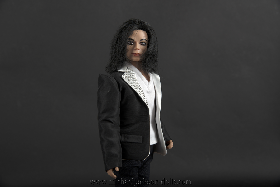 Michael Jackson jacket with white lapel close up