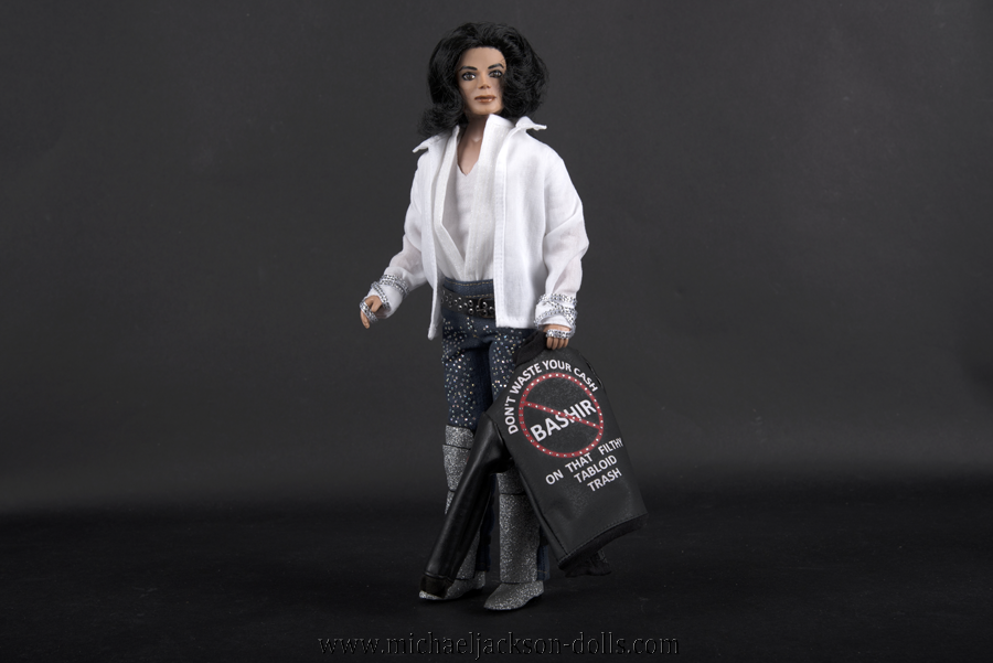 Michael Jackson doll 45th birthday party Anti Bashir jacket