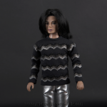 Michael Jackson doll Ebony photoshoot close up
