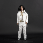Michael Jackson doll Ebony white suit