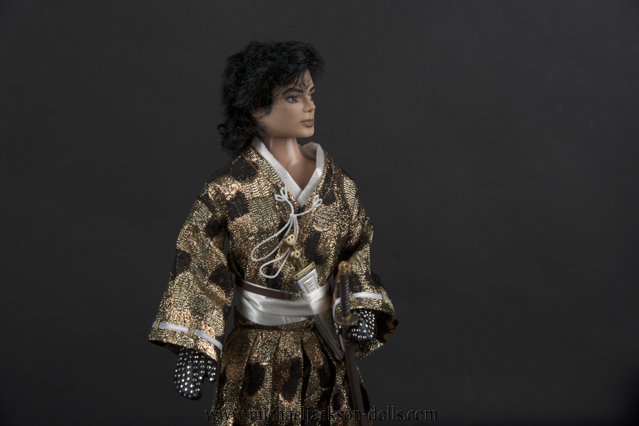 Michael Jackson doll Samurai close up
