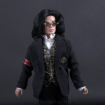 Michael Jackson doll Trial Suit close up