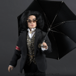 Michael Jackson doll Trial Suit with umbrella close up